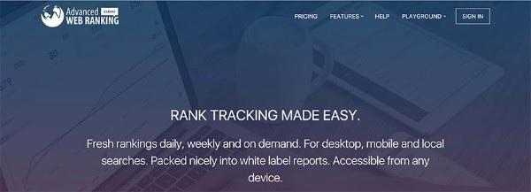 tool advanced web ranking - kiểm tra thứ hạng từ khóa